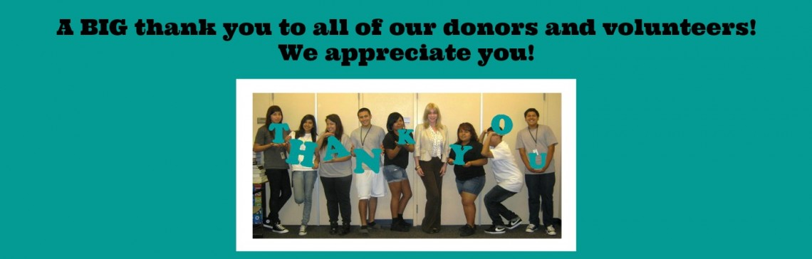 Thank you to all of our donors and volunteers!